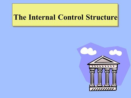 The Internal Control Structure. The Relationship between Risks, Opportunities, and Controls Risks –A risk is any exposure to the chance of injury or loss.