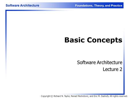 Software Architecture Lecture 2