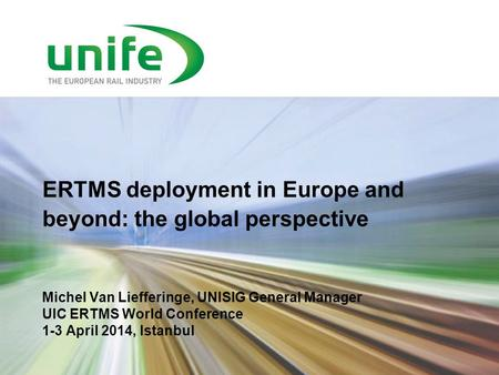 ERTMS deployment in Europe and beyond: the global perspective