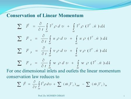 Conservation of Linear Momentum.