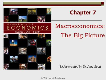 Chapter 7 ©2010  Worth Publishers Macroeconomics: The Big Picture Slides created by Dr. Amy Scott.