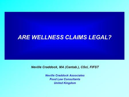 ARE WELLNESS CLAIMS LEGAL?