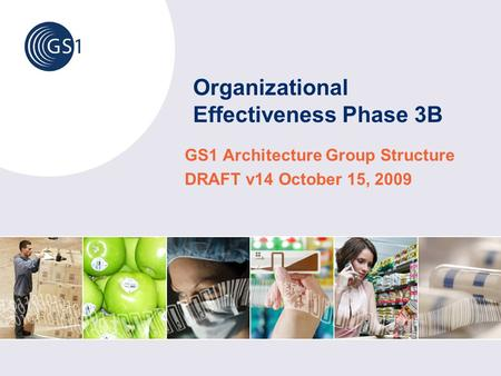 Organizational Effectiveness Phase 3B GS1 Architecture Group Structure DRAFT v14 October 15, 2009.