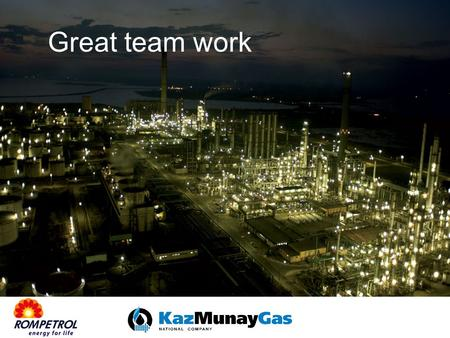 Great team work. ROMPETROL DRILLING & WORKOVER Rompetrol Drilling & Workover Division (RDW) covers a comprehensive list of operations, ranging from exploration,
