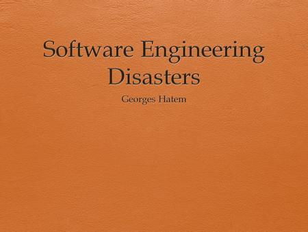 software project disasters The scariest software project horror stories of 2012 billions of dollars were wasted and tempers ran hot as multiple projects hit the skids this year here's a look at some of 2012's scariest software project disasters [ to comment on this story.