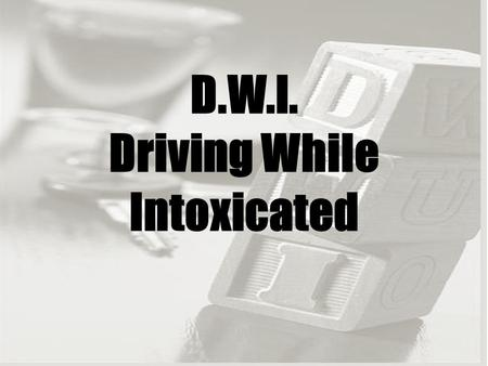 D.W.I. Driving While Intoxicated. Which Friend Would You Be? Three friends are partying: one is about to drive after drinking too much, one is impatient.