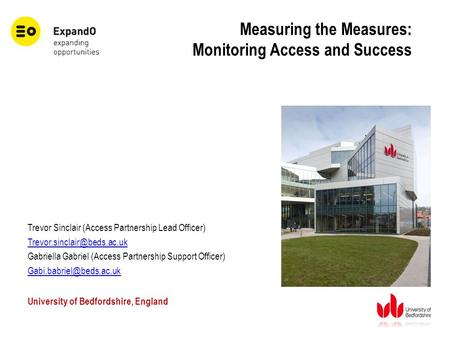 Measuring the Measures: Monitoring Access and Success Trevor Sinclair (Access Partnership Lead Officer) Gabriella Gabriel (Access.