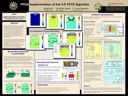 The 3D FDTD Buried Object Detection Forward Model used in this project was developed by Panos Kosmas and Dr. Carey Rappaport of Northeastern University.