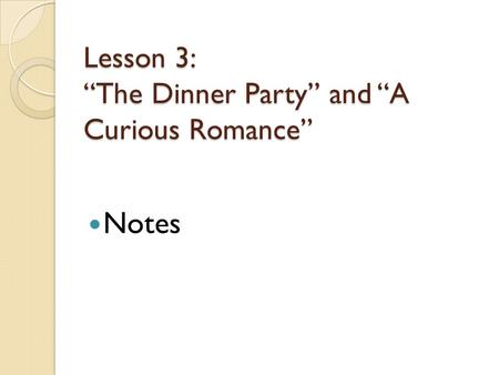 The dinner party mona gardner