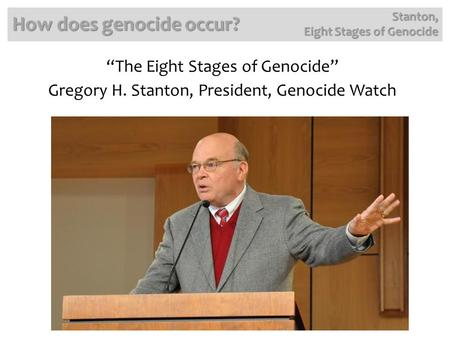 How does genocide occur?