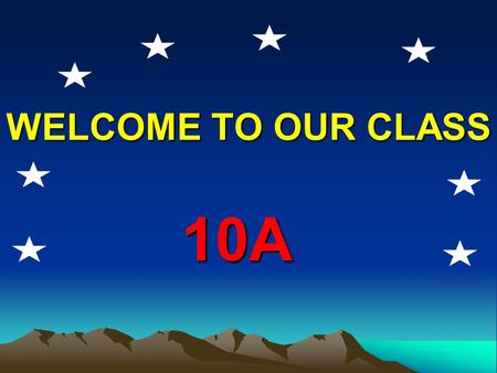 WELCOME TO OUR CLASS 10A A B C 1. We should build a new hospital. 2. We should widen the roads. 3. We should make a canal. What should you do to improve.