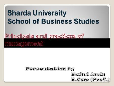 Sharda University School of Business Studies. SYSTEMS THEORY Provides a general analytical framework (perspective) for viewing an organization.