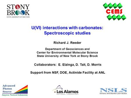 U(VI) interactions with carbonates: Spectroscopic studies