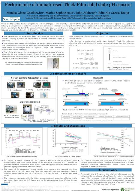 The performance of novel solid state Thick-Film pH sensor for water quality sampling suitable for deployment in remote catchment areas is presented. The.