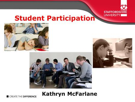 Student Participation Kathryn McFarlane. Aims Revisit underpinning theories relevant to student participation Generate discussion…..