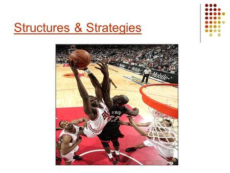 Structures & Strategies. Structures are the designs or formations which teams use in different activities. Strategies, which often include game plans,