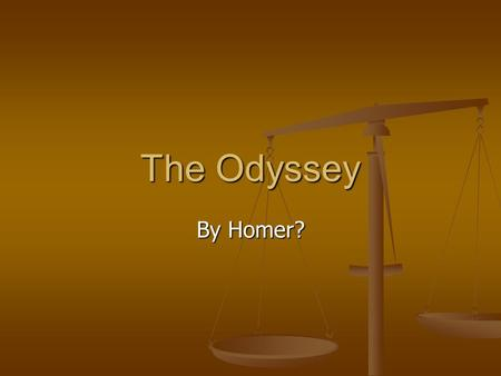 The Odyssey By Homer?. Book VIII – The Cyclops King Alcinous has asked Odysseus to reveal who he is after he was brought to tears by the bard Demodocus'