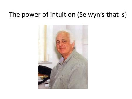 The power of intuition (Selwyn's that is). Selwyn's career goal #__: What does the asthenosphere have to do with earthquakes, crustal motions, and mantle.