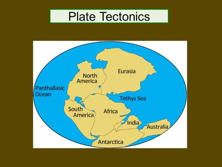 Plate Tectonics. The Plate Tectonic Theory The plate tectonic theory states that the crust of the Earth is broken into several large sections known as.