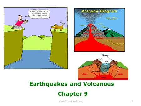 Earthquakes and Volcanoes Chapter 9 1 phsc001, chapter9, yuc.