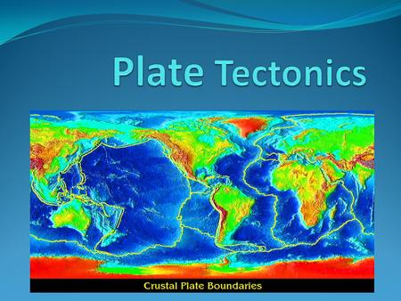 What are Plate Tectonics? A theory that Earth's Surface is divided into a few large plates that are constantly moving and changing shape. Geological evidence.