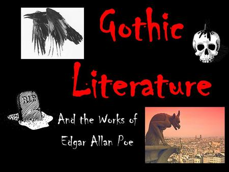 gothic style in the works of edgar allan poe Okay, so edgar allan poe was writing way before the authors we traditionally  think of  is also considered to be one of poe's classic works, and it's the first in a  long  in true southern gothic style, the family at the center of poe's the fall of  the.