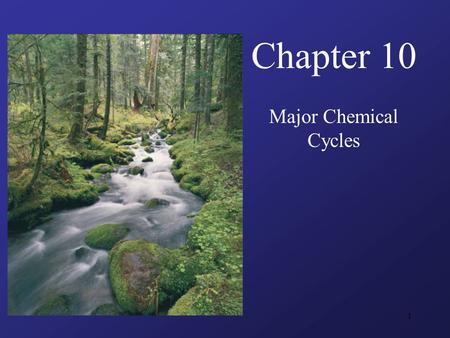 1 Chapter 10 Major Chemical Cycles. 2 Guiding Questions What are the chemical reservoirs in the Earth system? What is the difference between photosynthesis.
