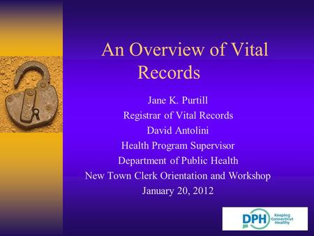 An Overview of Vital Records