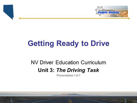 NV Driver Education Curriculum