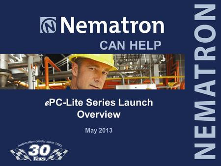 CAN HELP e PC-Lite Series Launch Overview May 2013.