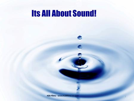 Its All About Sound! 1. By the end of this presentation you will: Understand the basic principles of sound measurement and its behaviour. Understand the.