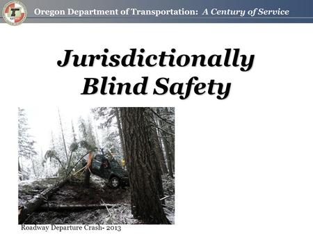 Jurisdictionally Blind Safety Roadway Departure Crash- 2013.
