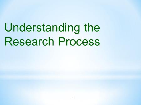1 Understanding the Research Process. 2 Bachelor = learn how to learn Master = learn how to teach Ph. D = learn how to do research.