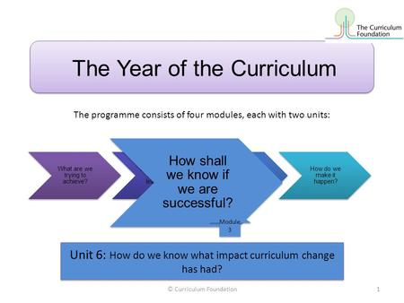 The Year of the Curriculum What are we trying to achieve? How shall we organise learning? How shall we evaluate success? How do we make it happen? How.