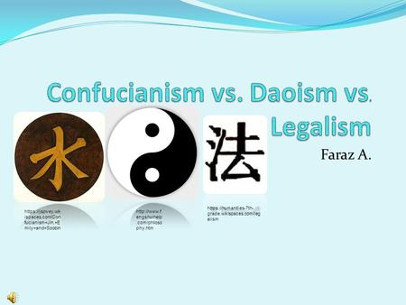 daoism and confucnaism notes What is the difference between taoism and confucianism (1) note that virtually all scholars treat the how would you compare and contrast confucianism and taoism.