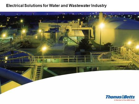 Electrical Solutions for Water and Wastewater Industry.