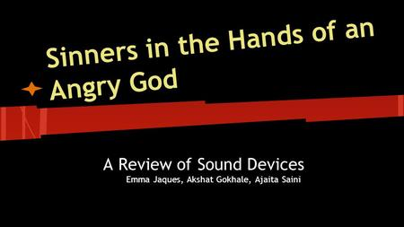 sinners in the hands of an angry god tone essay