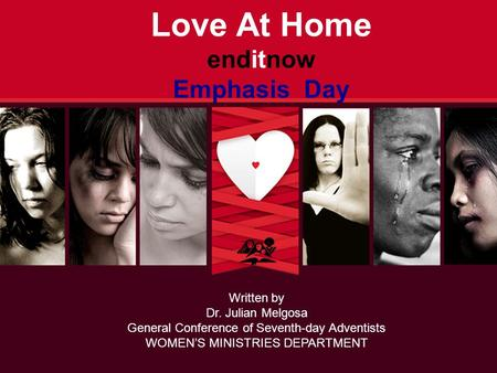 Love At Home enditnow Emphasis Day