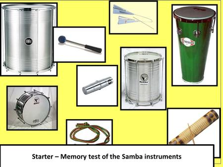 Starter – Memory test of the Samba instruments