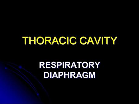 THORACIC CAVITY RESPIRATORY DIAPHRAGM. Diaphragm A diaphragm is a muscular sheet with an inferior and a superior fascia: A diaphragm is a muscular sheet.