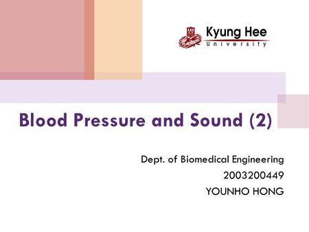 Blood Pressure and Sound (2)