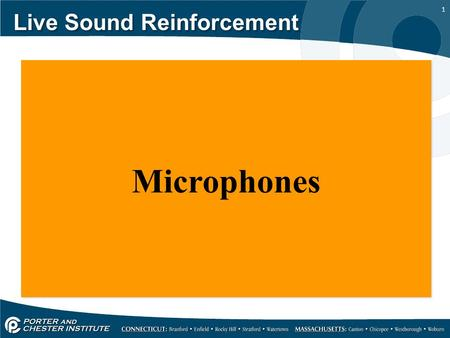 1 Live Sound Reinforcement Microphones. 2 Live Sound Reinforcement A microphone is a transducer that changes sound waves into electrical signals and there.
