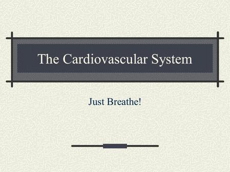 The Cardiovascular System Just Breathe!. Functions of the Cardiovascular System Comprised of the heart and all of the blood vessels It circulates the.