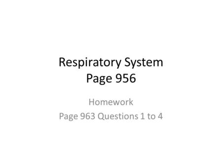 Respiratory System Page 956