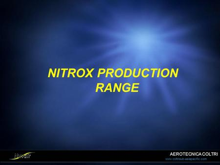 NITROX PRODUCTION RANGE