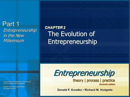 CHAPTER 2 The Evolution of Entrepreneurship