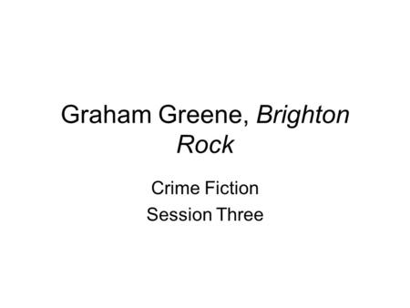 a chapter summary of the book brighton rock by graham greene Brighton rock summary & study guide includes detailed chapter summaries and analysis, quotes, character descriptions, themes this detailed literature summary also contains topics for discussion and a free quiz on brighton rock by graham greene brighton rock is a murder mystery set in.