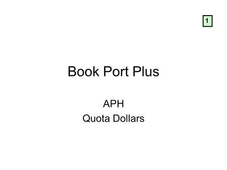 Book Port Plus APH Quota Dollars 1. Learn the Keys: Record Key Go to Key Bookmark Key Power key Play/Stop key Four arrow keys 2.