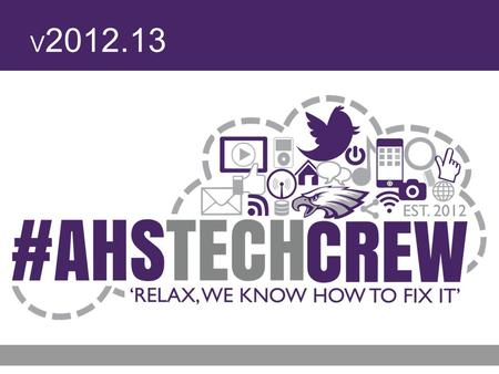 V 2012.13. 2 Avon High School Tech Crew Agenda Old Business –Scorers Table –Tech Talks New Business –Week 7 Topics: Delete files XBMC Demo/Mini-PC Demo.