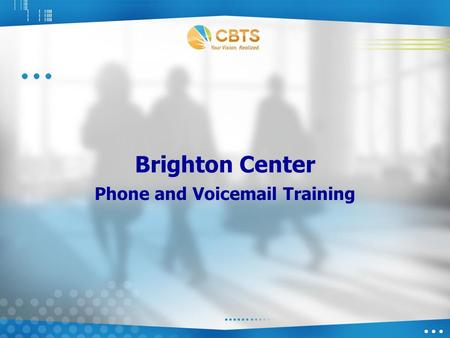Brighton Center Phone and Voicemail Training. Cisco 7962 Physical Phone Details 1- Line Buttons 2- LCD Display 3- Footstand Button 4- Messages Button.